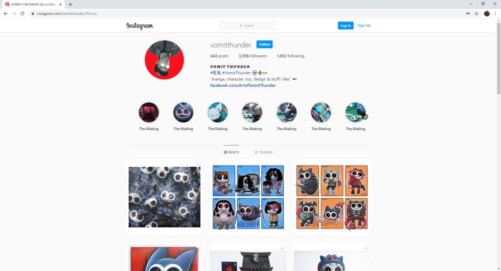 strategi pemasaran influencer media sosial instagram vomit thunder